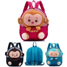 2017 Kid Boy Girl Animal Backpack Monkey SchoolBag Rucksack Children Backpack US