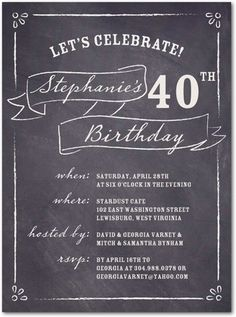 90th Birthday Invitation Diamond Milestone Adult Birthday Party