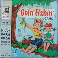 MILTON BRADLEY: 1956 Goin' Fishin' Game #Vintage #Games