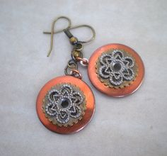 Steampunk Earrings washers I think