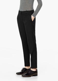 Pantalon de costume laine - Pantalons pour Femme | MANGO