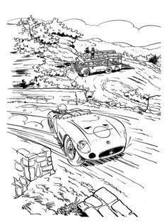 67 best auto art images 1953 Buick Roadmaster Convertible zwatt wit