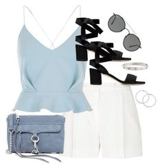 """""""Untitled #3226"""" by theaverageauburn on Polyvore featuring Elie Saab, River Island, Rebecca Minkoff, Ray-Ban and Cartier"""