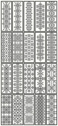 traditional blackwork embroidery designs as doodle fodder!!