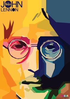 Arte Pop, John Lennon, Caricature, Guitar Wall Art, Beatles Art, Matchbox Art, Elements Of Art, Art And Illustration, Art Pictures