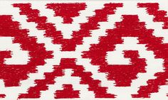 Fillmore Tape   70605 in Red   Schumacher Trims   A wide linen tape with an ikat-like pattern that imparts a dash of boho chic.