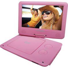 "Sylvania - 9"" Portable DVD Player - Pink"