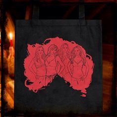 """The Tote Bag"" #WayneAlecAdams #PrescottManor #Charmed #ToteBag #HalliwellSisters #CharmedArtWorks #Wicca #Artwork #Magic"