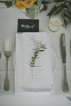 Chic and Funky Winter Aspen Wedding via Rocky Mountain Bride   simple and chic table decor inspiration