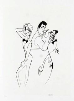 Frank Sinatra, Dean Martin and Sammy Davis Jr Drawing by Al Hirschfeld