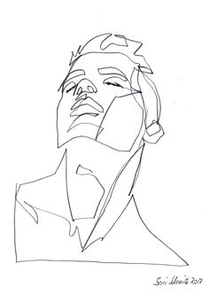 """Gaze 523″, continuous line drawing by Boris Schmitz"