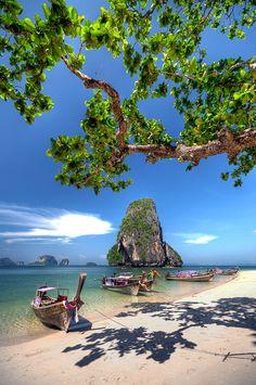 Thailand #beach #boat