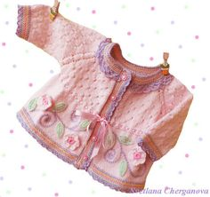 Hand knit baby sweaterknitted baby sweater by Svetlanababyknitting