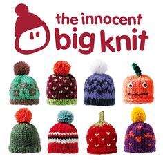 Innocent big knit... Knit and/or crochet little hats for Innocent smoothie bottles and help raise money for Age UK!