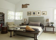 Beach Style Bedroom in East Hampton, NY by Huniford Design Studio