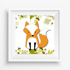Fox wall art, Woodland art, Fox wall art print, nursery wall art, wild animals decoration, fox printable, download and print yourself Woodland Art, Animal Decor, Wild Animals, Nursery Wall Art, Wall Art Prints, Fox, Printables, Decoration, Unique Jewelry