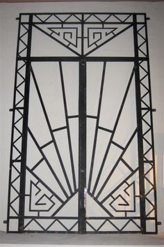 I can use this on one of my doors to add a bit of detail and life Art Deco Wrought Iron Double Entry Door