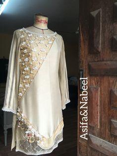 AsifaandNabeel Fancy Dress Design, Stylish Dress Designs, Designs For Dresses, Stylish Dresses For Girls, Simple Dresses, Elegant Dresses, Casual Dresses, Simple Pakistani Dresses, Pakistani Dress Design