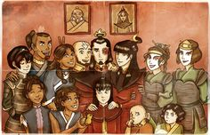 The Gaang with their children.