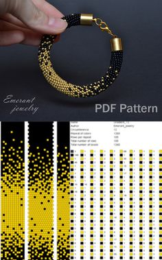 seed bead bracelet patterns and instructions Crochet Bracelet Pattern, Crochet Beaded Bracelets, Beaded Necklace Patterns, Bead Crochet Patterns, Beading Patterns Free, Seed Bead Patterns, Embroidery Bracelets, Weaving Patterns, Stitch Patterns