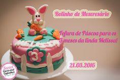 Sweet Cucas and Cupcakes by Rosângela Rolim: Bolinho para os 3 meses da Melissa