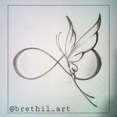 butterfly infinity tattoos - Google Search
