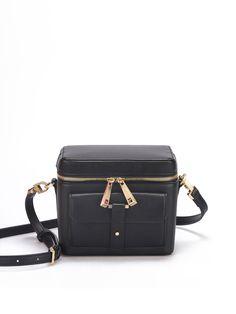 #AdoreWe #StyleWe SUSEN Mini Casual Faux Leather Zipper Cube Crossbody - AdoreWe.com