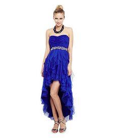 Teeze Me strapless corkscrew H-Low dress Available at Dillards.com #Dillards