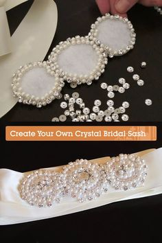 Diy Bead Embroidery, Embroidery Fashion, Bridal Accessories, Bridal Jewelry, Bridal Sash Belt, Wedding Belts, Beaded Jewelry Patterns, Bead Jewellery, Bead Crafts