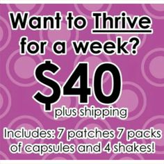 Give me a holler and I will get you hooked up! thrivewithkelli.com