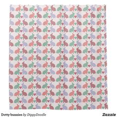 Dotty bunnies shower curtain