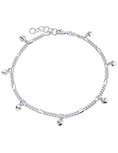 Multi Heart Dangle Charms Anklet Ankle Bracelet For Women 925 Sterling Silver Adjustable 9 To 10 Inch With Extender Ankle Bracelets, Modern Jewelry, Anklets, Bling Jewelry, Cookware, Boards, Charmed, Sterling Silver, Check