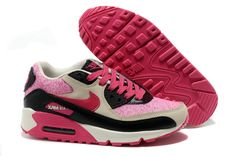 Nike Air Max 90 Womens Bright Peachblow Black Running Shoe Outlet Sale - $53.77 | sports nike shoes | Scoop.it