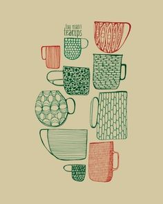 #I love tea cups. Beautiful prints and art showing how each one of us sees our own tea cup differently