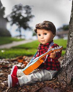 86c7ab576 American Girl Brand Doll Boy Logan 2017 · Gary💫 ( Logan on Instagram) It  seems this boy is always taking the guitar