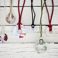 Fun Washer and Scrapbook Paper Necklaces