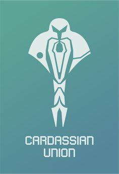 Star Trek Logo Cardassian Union Flat Design