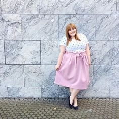 Happy Thursday (+last day of August 😳)! 💕 Outfit: Shirt @sheego_fashion // Rock @asos_de // Ballerinas @dorothyperkins  #kathastrophaloutfits #psootd #plussizeoutfitoftheday