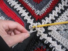 Flat Braid 3-Ch Crochet Join Tutorial pattern by Margaret MacInnis. I've used this technique 3 times now, its my 'go to' join now because its easy and is great looking.