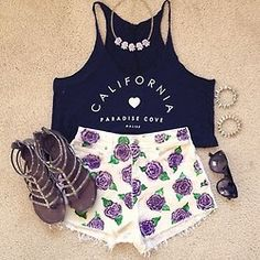 This outfit was made for you @Natasha C Lopez, purple AND California? Yep. Its you.