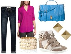 """""""Sneaker Wedges"""" by refinedandpolished on Polyvore"""