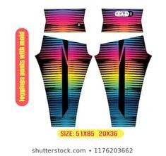 Cartera de fotos e imágenes de stock de gonzoshembass | Shutterstock Leggings, Illustration, Pants, Fitness, Design, Fashion, Molde, Block Prints, Sports Leggings