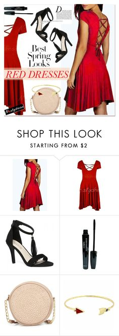 """""""Hot Red Dress"""" by paculi ❤ liked on Polyvore featuring H&M, Anja, Neiman Marcus, women's clothing, women, female, woman, misses, juniors and reddress"""