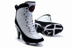 designer fashion 51a14 67108 2011 New Air Jordan 6 High Heels Shoes Black White