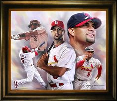Oil Painting of arguably the best current Baseball Player Albert Pujols. http://www.star-portrait.org