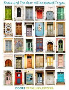 Doors of Tallinn, Estonia #COLOURFULESTONIA #VISITESTONIA
