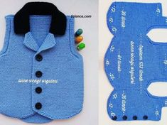 Erkek bebekler için yada erkek çocuklar için yapılan ve çok yakışan ata y. We wanted to remember with the construction of the black-collar ankle vest model, which is suitable for baby boys or boys and suits well. Quite Kleidung Knitting For Kids, Crochet For Kids, Baby Knitting Patterns, Knitting Designs, Baby Patterns, Crochet Patterns, Baby Pullover, Baby Cardigan, Crochet Poncho