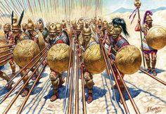 Hellenic hoplites; phalanx; heavy spearmen