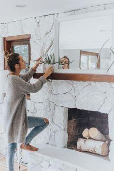 Paint frames or mirror frame same color as wall, sleek