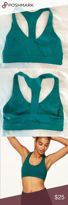 Lululemon Break Free Bra Teal Green. Size 6. Worn twice. lululemon athletica Intimates & Sleepwear Bras